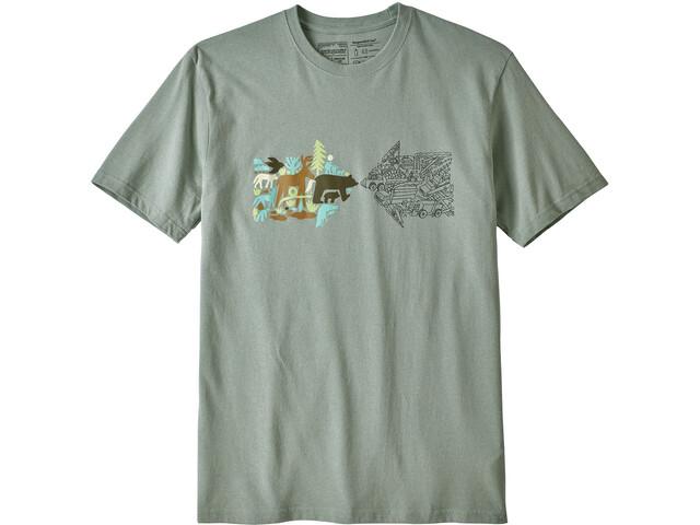 Patagonia Real Riches Responsibili T-shirt Homme, celadon